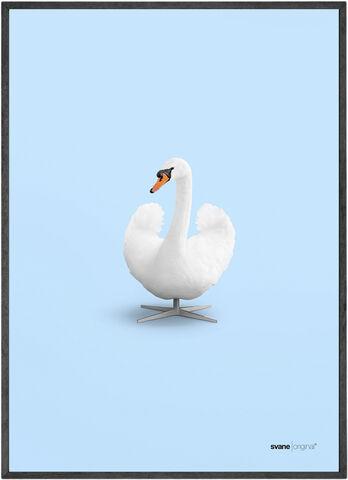 brainchild - svane original - blå 50x70