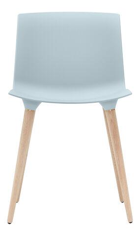 TAC Chair plast Iceblue / Oak white pigm. lacquer
