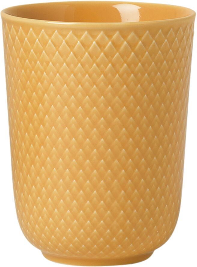 Rhombe Krus 33 cl gul porcelæn