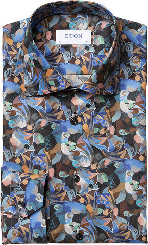 Futurism print shirt Contemporary fit