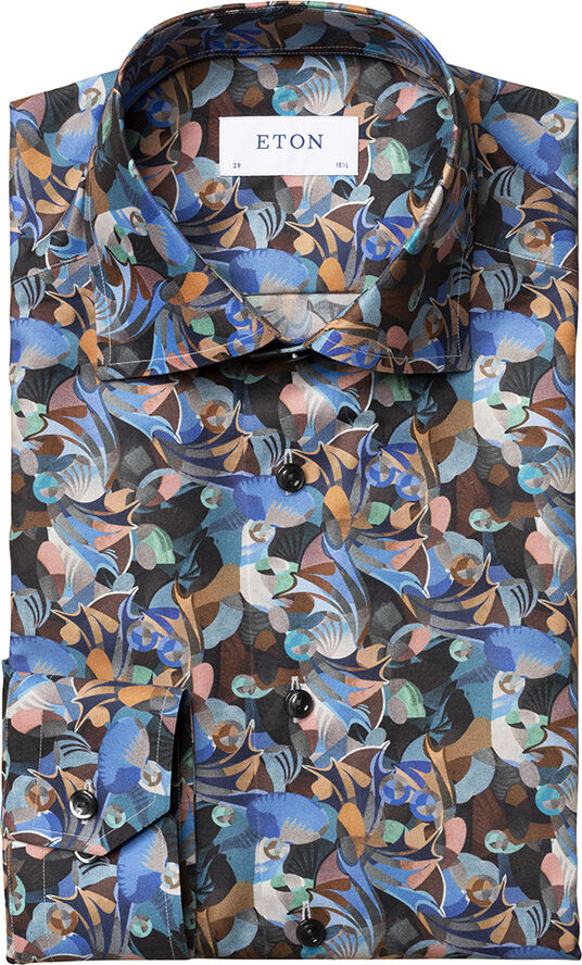 Futurism print shirt Contemporary fit