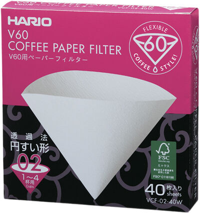 Hario Paper Filter 2 cup (40 pcs. Box)