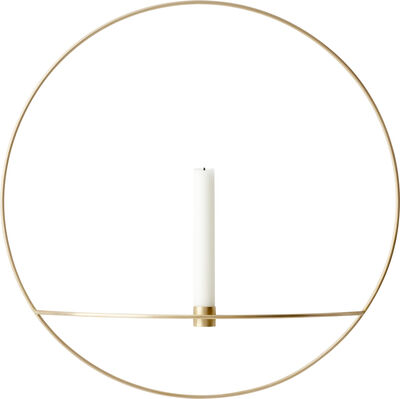 POV Circle, Candleholder, L, Brass