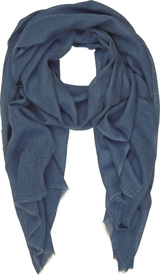 Uld og silke tørklæde
