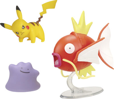 Pokemon Battle Figure 3 Pack - Ditto 5 cm, Pikachu #4 5cm, M