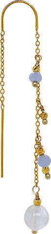 Jessica Aquamarine single Earrings - Gold