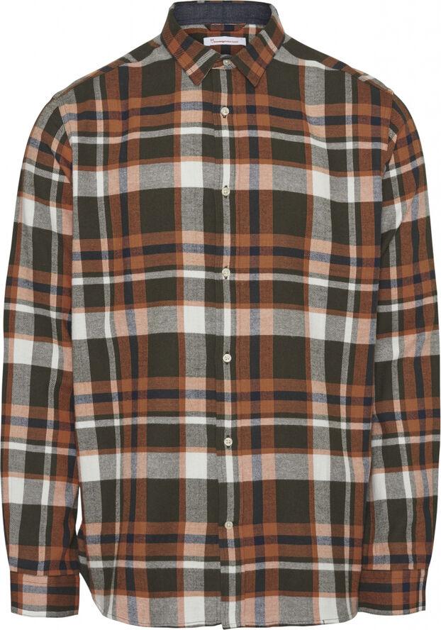 LARCH LS checked flannel shirt - GOTS/Vegan