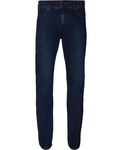 Daren zip fly dark stonewash jeans
