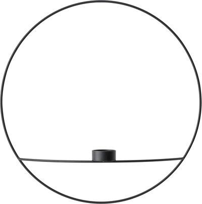 POV Circle,Tealight Candleholder, L, Black