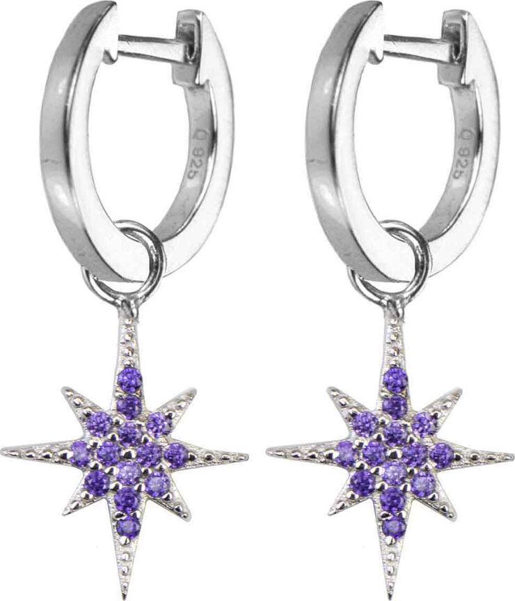Double northern star earrings