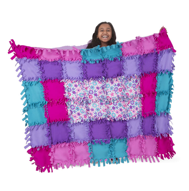 Created by Me - Flower Fleece Quilt