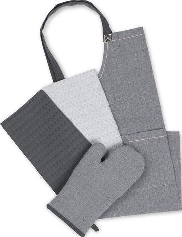 Tekstilsæt recycle 5 dele grå