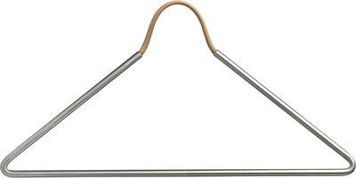 HANGER 45x19,5 cm STEEL metallic / LEATHER CORD nature