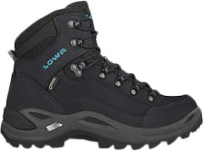 Lowa Renegade Mid GTX vandrestøvler, Asphalt/Turqoise