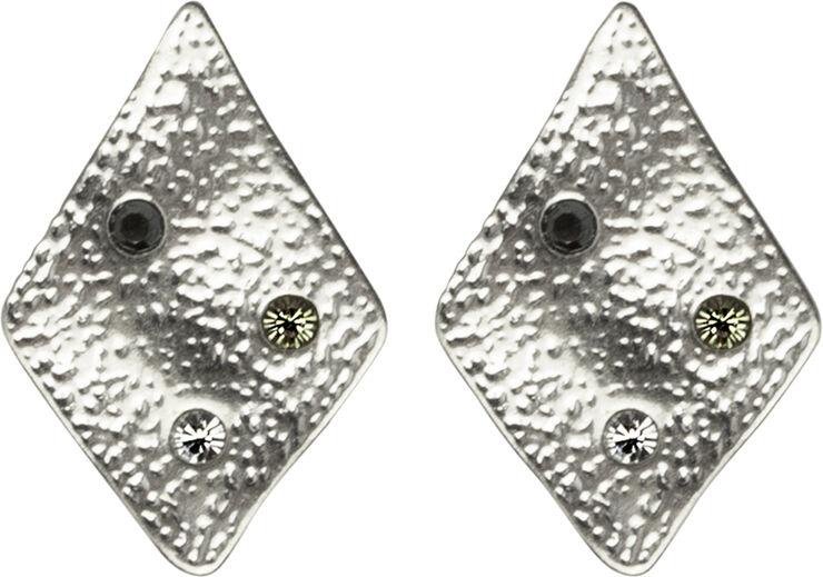 Store rhombus ørestikker. Mål: 1.7 x 1.2 cm.