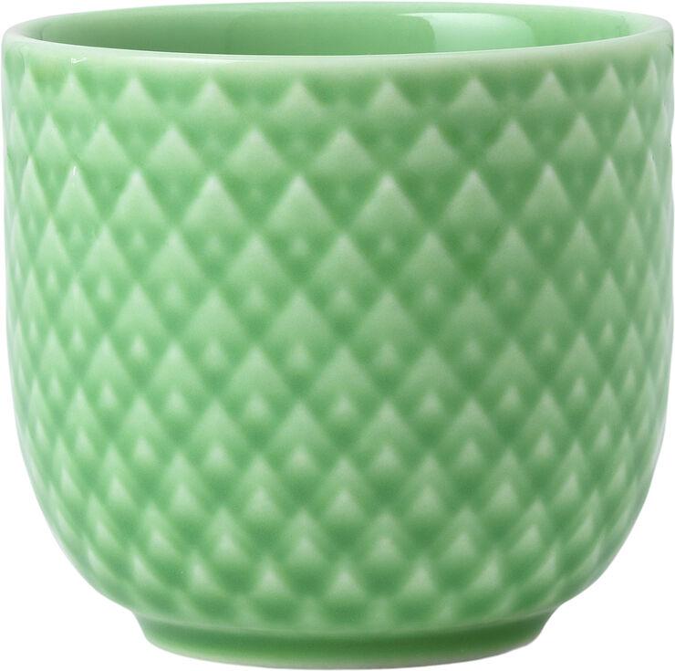 Rhombe Color Æggebæger Ø5 cm grøn porcelæn