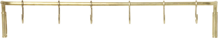 Kitchen Rod incl. 6 hooks - Brass