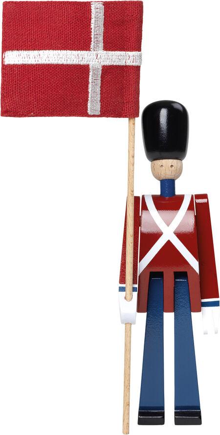 Fanebærer mini rød/blå/hvid