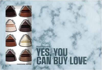 """YES, YOU CAN BUY LOVE"" - Chokoladeæske m/ 24 stk."