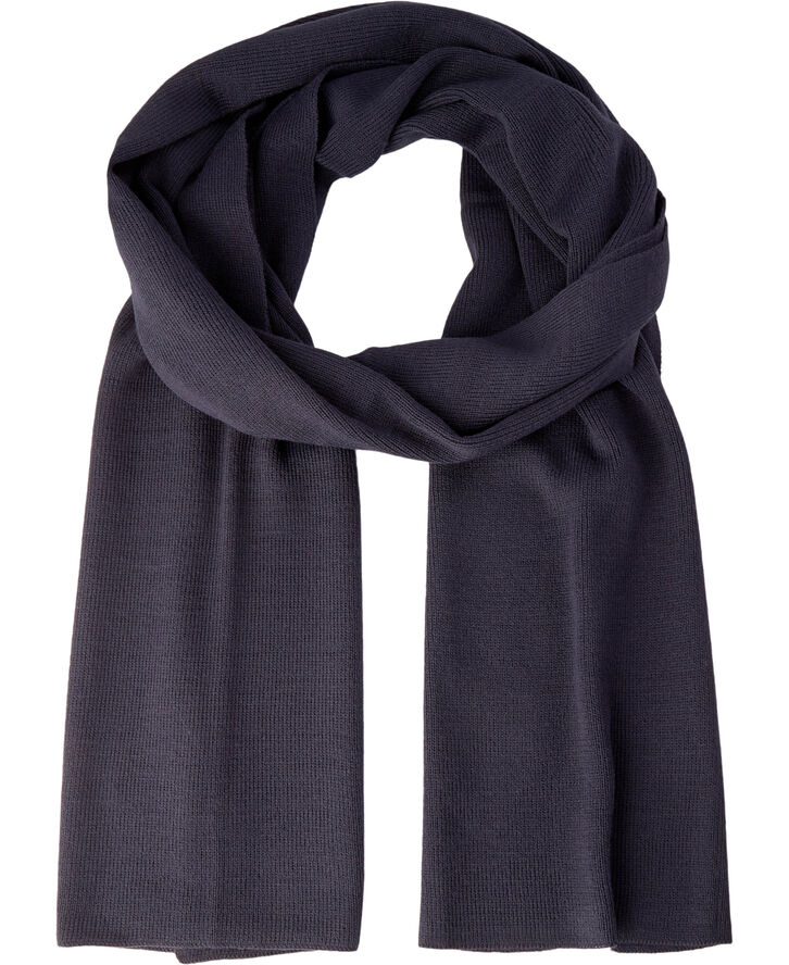 Ancher navy Knitted Scarf