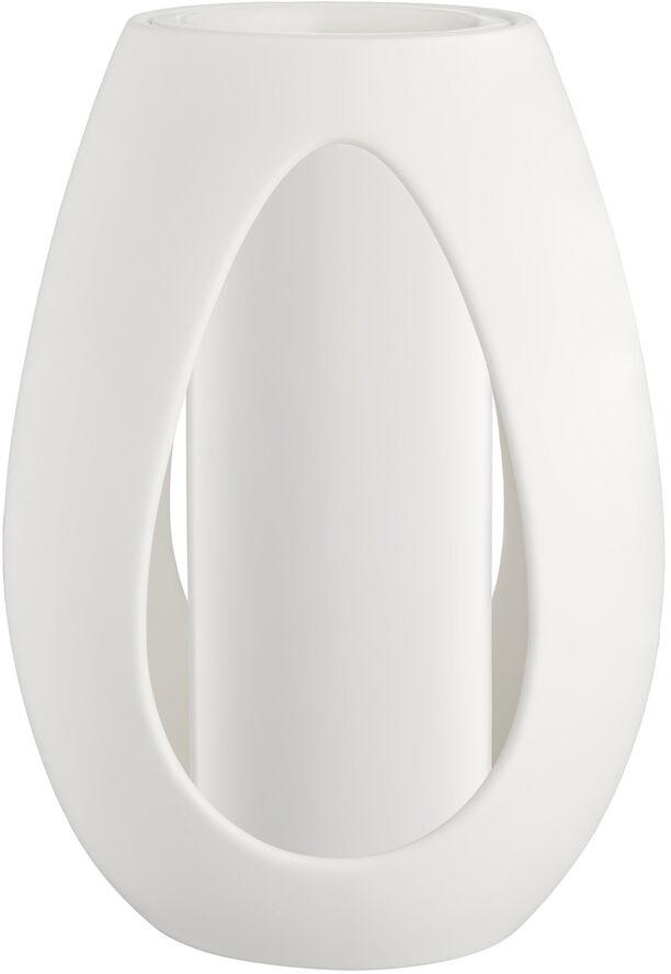 Kokong Vase med cylinder H33 hvid