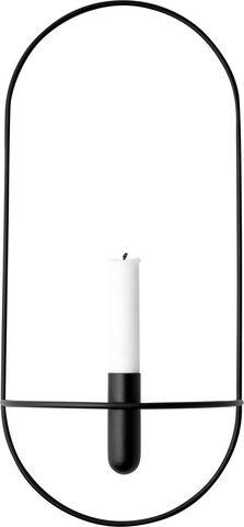 POV Oval Candleholder, Black