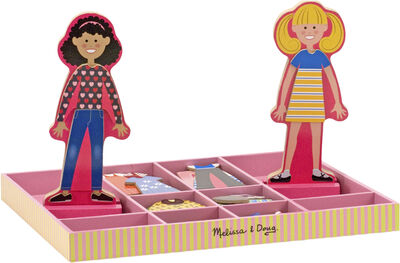 Abby & Emma Magnetic Wooden Dress-Up Dolls