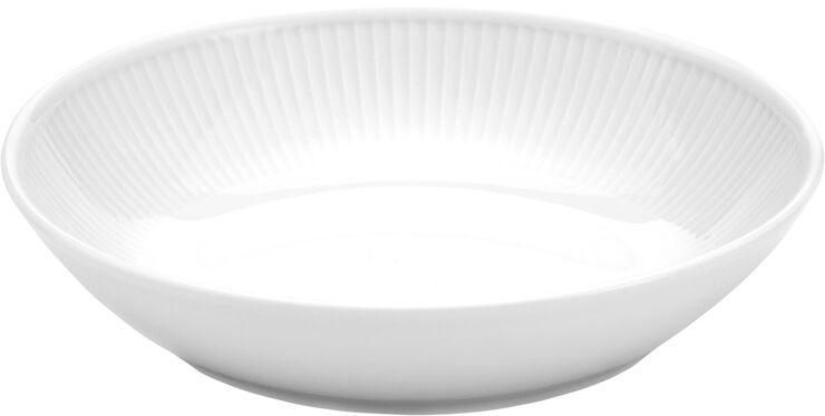Plissé dyb salat-/pastatallerken 23 cm