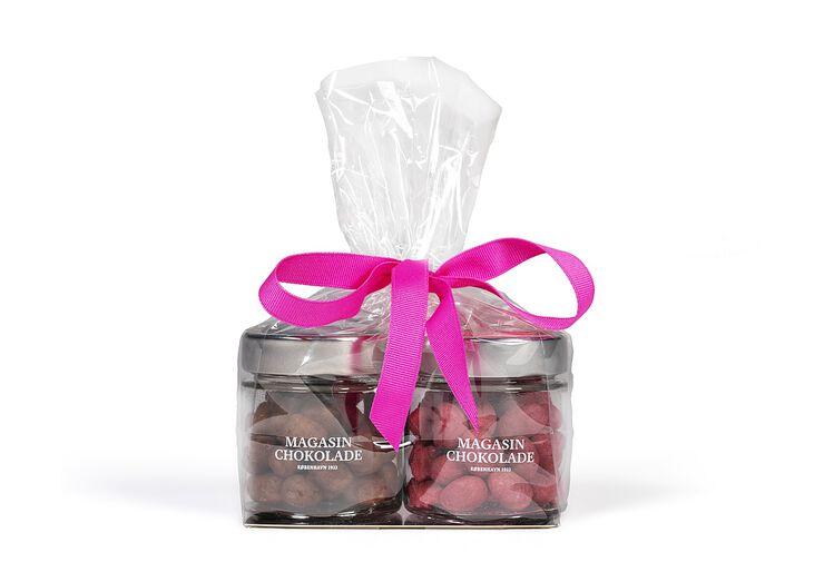 Hindbærmandler & Islandsk lakrids i gavepose