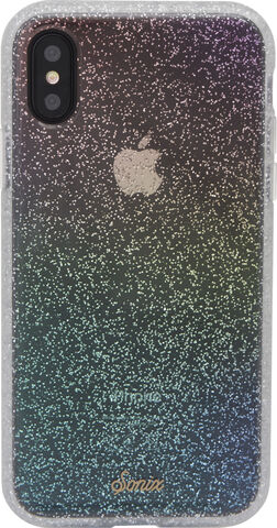 CLEAR COAT FOR IPHONE X/XS - RAINBOW GLITTER