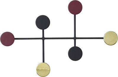 Afteroom Coat Hanger, Black/Brass