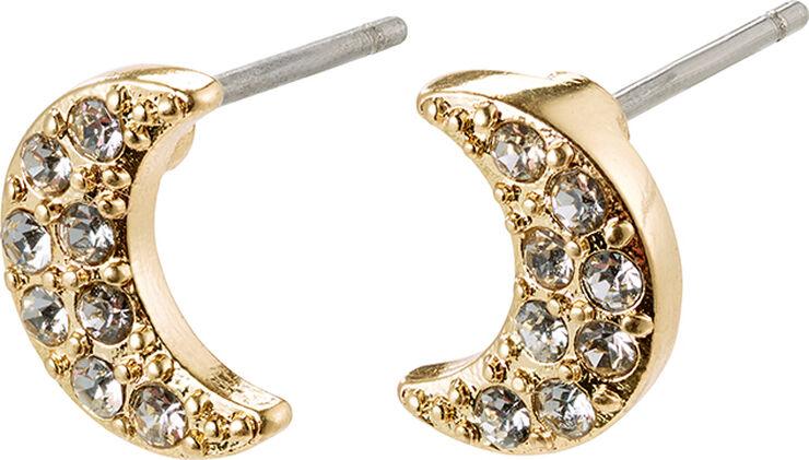 Øreringe, ginger, guldbelagt, krystal