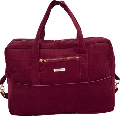 Mommy bag - fløjl, Deeply red