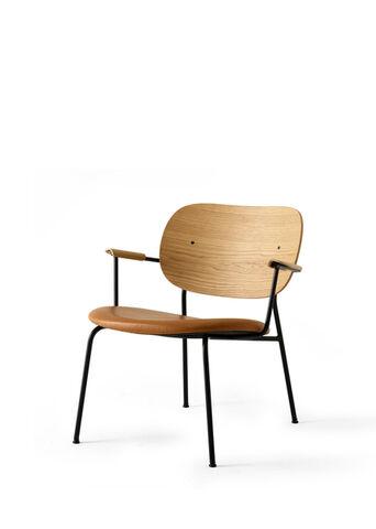 Co Chair Lounge Chair, Black Base/Natural Oak/Dakar 250