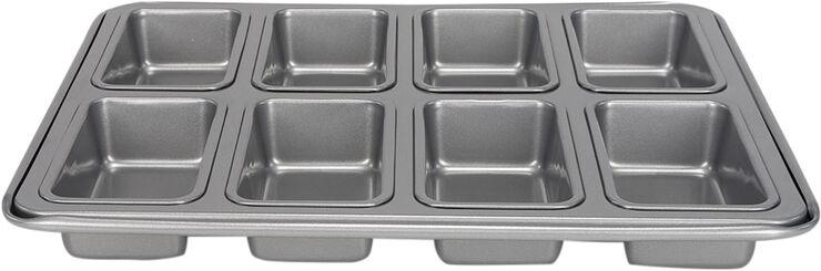 Silvertop brødform til 8 stk. mini, sølvfarvet L34