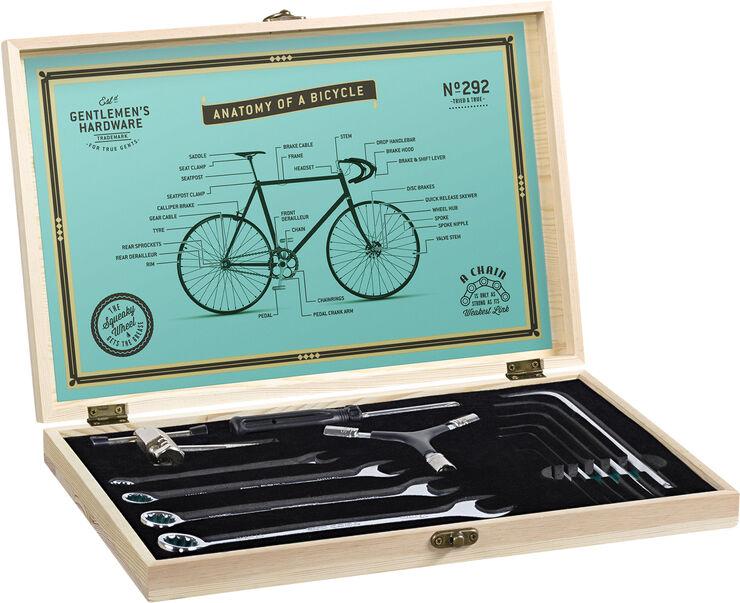 Bicycle Tool Kit in Wood Box