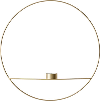 POV Circle,Tealight Candleholder, L, Brass