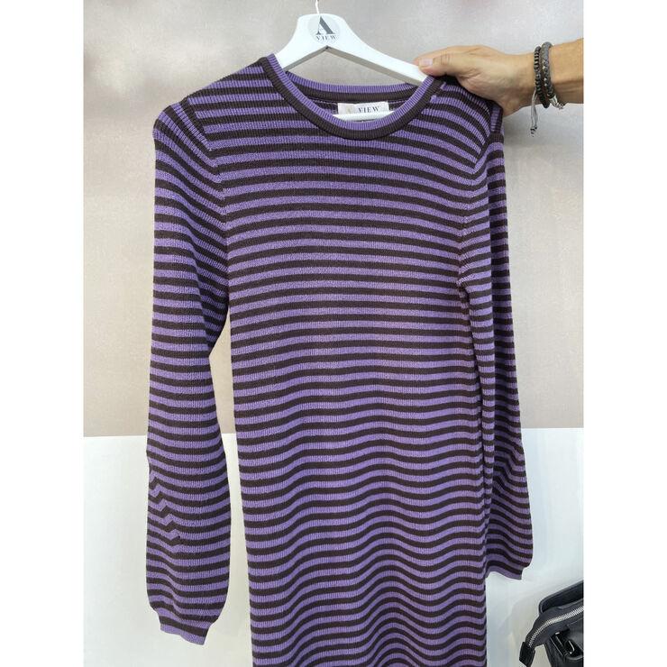 Violet knit blouse