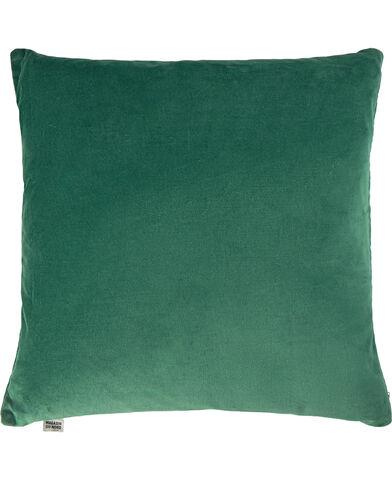 Velvet pude Dark green 47x47 cm.