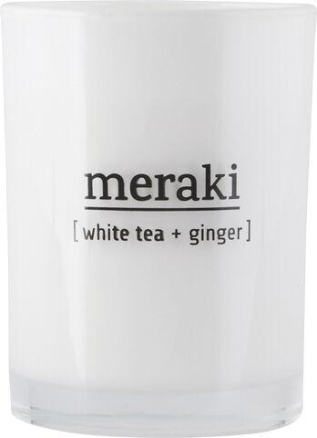 Duftlys - hvid te & ingefær