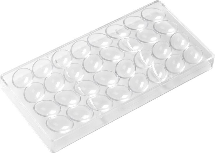 Chokoladeform til 24 stk. æg, klar L27cm B13cm H2,