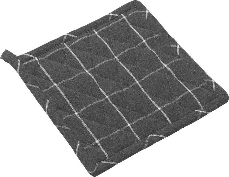 Grydelap recycle mørk grå tern L22,