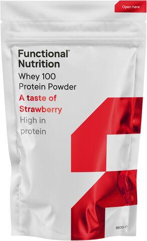 Whey 100 proteinpulver - Strawberry 850g