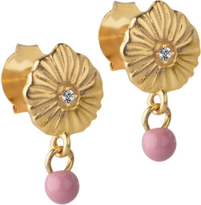 Earring, Mini Sparkling Shell