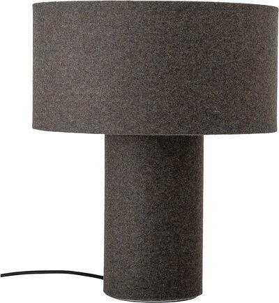 Bordlampe, grå, uld