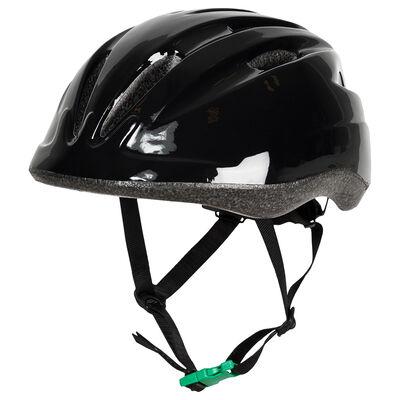 Helmet Black with Green Buckle Size M 52-56 cm