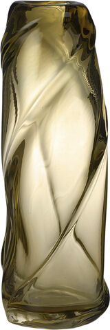 Water Swirl Vase - Tall - Light Yel