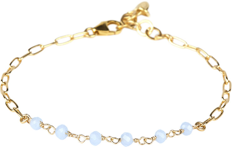 Daisy Calcedony Bracelet - Gold