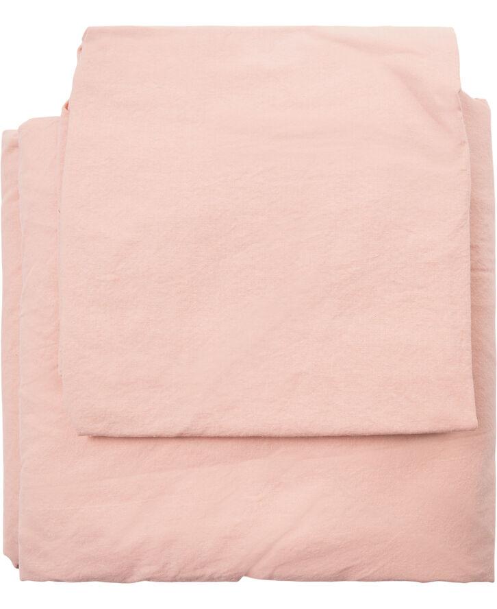 Sengesæt powder pink - Organic GOTS