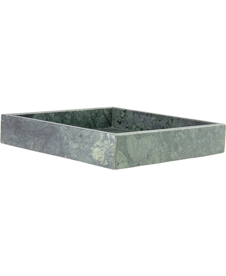 Marble tray, green 23x23x4 cm.